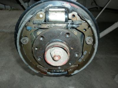 замена задних тормозных колодок дэу нексия