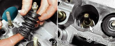 замена маслосъемных колпачков ваз 2110 8 клапанов