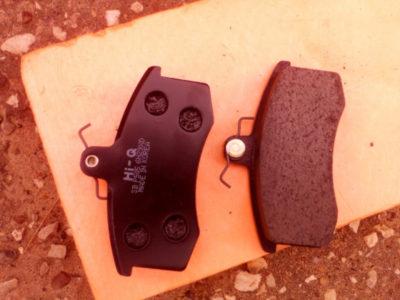 замена передних тормозных колодок калина