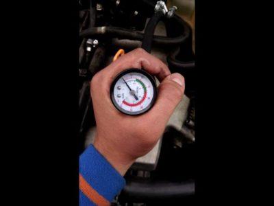 как проверить давление в топливной рампе