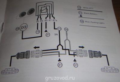 как подключить противотуманки через реле