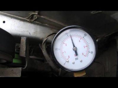 как проверить давление бензонасоса