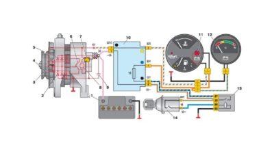 как подключить генератор ваз 2106