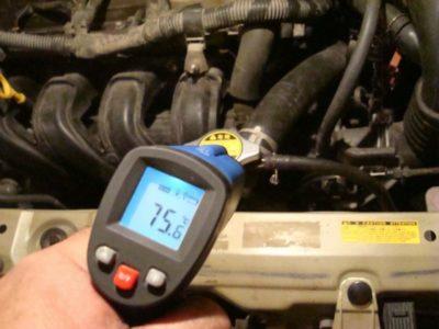 как узнать температуру двигателя