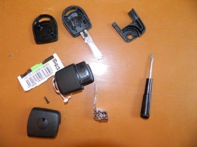 как разобрать ключ фольксваген
