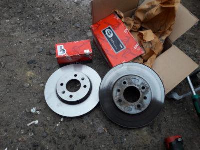 ваз 2110 замена тормозных дисков