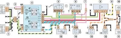 электросхема ваз 2106 с описанием цветная