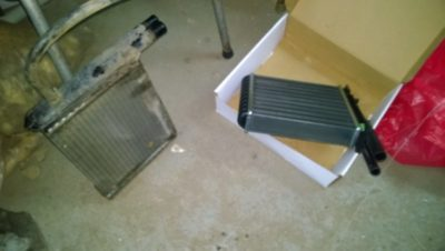 как снять радиатор печки ваз 2110