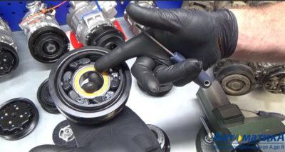 как снять шкив компрессора кондиционера